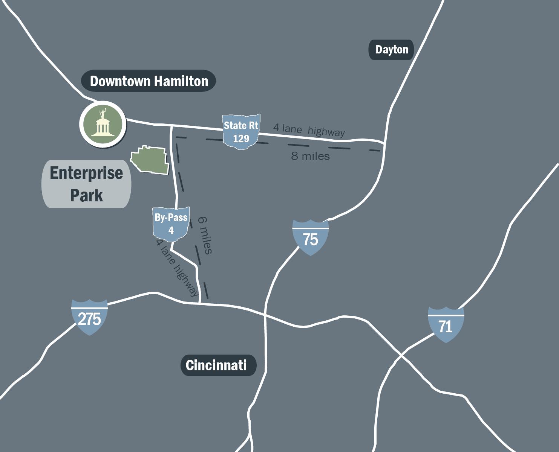 Hamilton Enterprise Park Map
